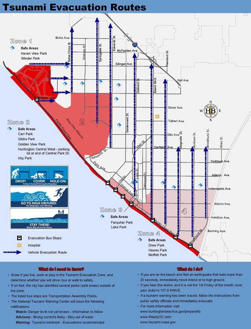 City of Huntington Beach CA News Huntington Beach Tsunami