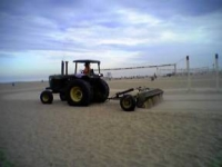 photo of beach maintenance