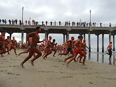 Huntington Beach Pier Swim - June 10, 2017  Photo - Click to Enlarge