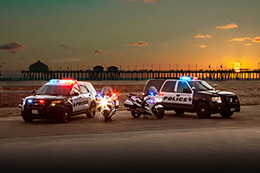 Photos of PD Vehicles in Front of City Pier