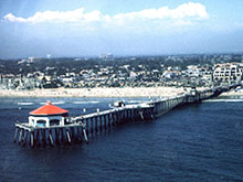 Photo of Huntington Beach Pier and Downtown - Click to Enlarge