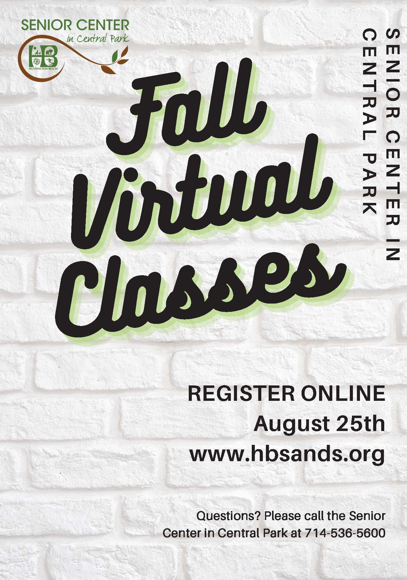 Page from Fall 2020 Virtual Classes