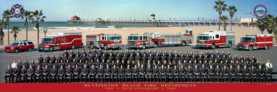 Huntington Beach Fire Department Group Photo - Click to Enlarge