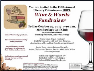 Literacy Wine and Words 2017