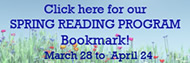 Spring Reading bookmark