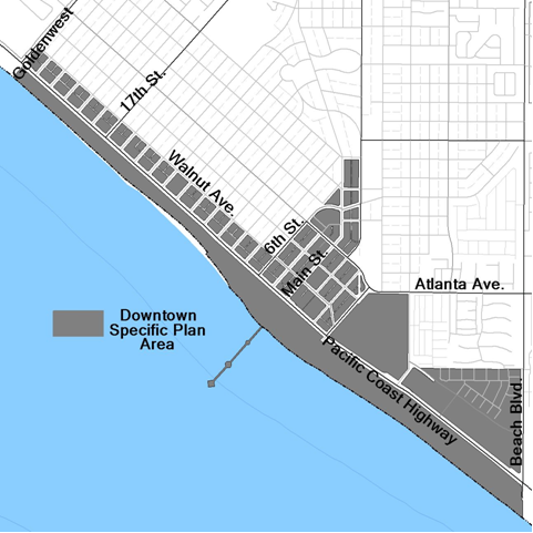 map of downtown specific plan