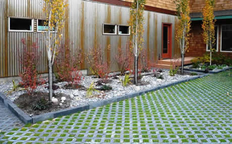 Permeable pavers allows for water to permeate into the ground and creates beautiful spaces