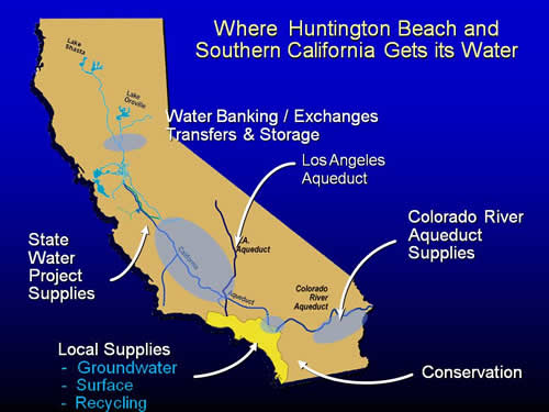 City of Huntington Beach, California - Water Conservation ... California State Water Project Map on california relief map project, california aqueduct, feather river canyon map, lake perris map, california state symbols art project, westlands water district map, california sea level rise, california valley yosemite national park, state water system map, california state road map, san diego county water districts map, silverwood lake map, california state university system map, california central valley project, california state parks map,