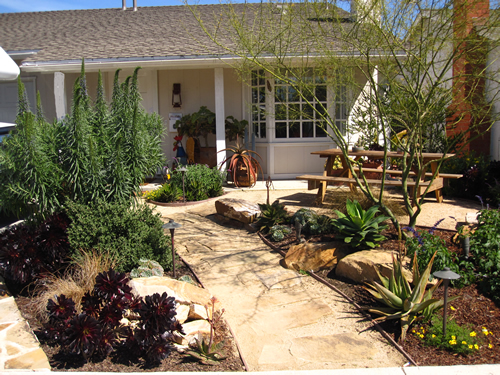 City of huntington beach california water conservation for Water saving garden designs